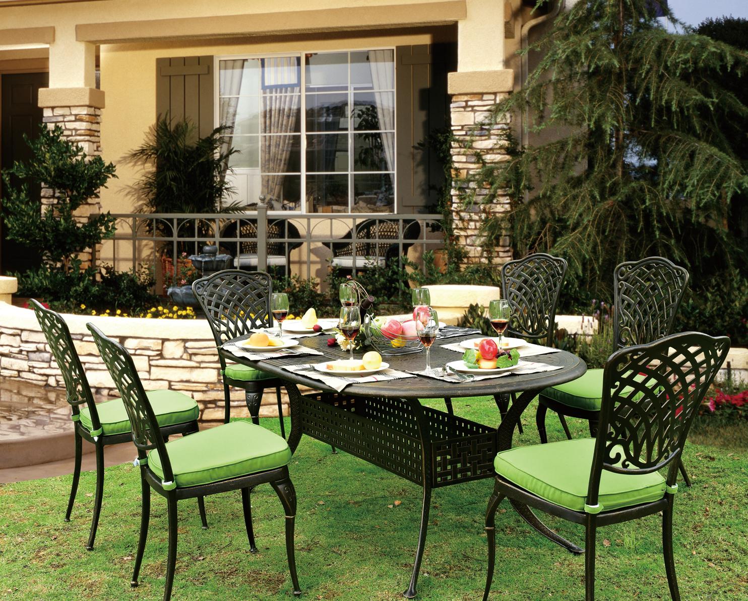 Jdm 7pc Cast Aluminum Luxury Outdoor Furniture Wrought