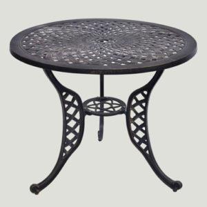Round Cast Aluminum Patio Table