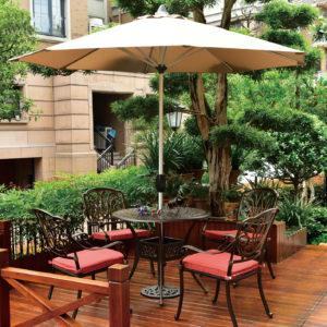 5pc modern aluminum outdoor furniture