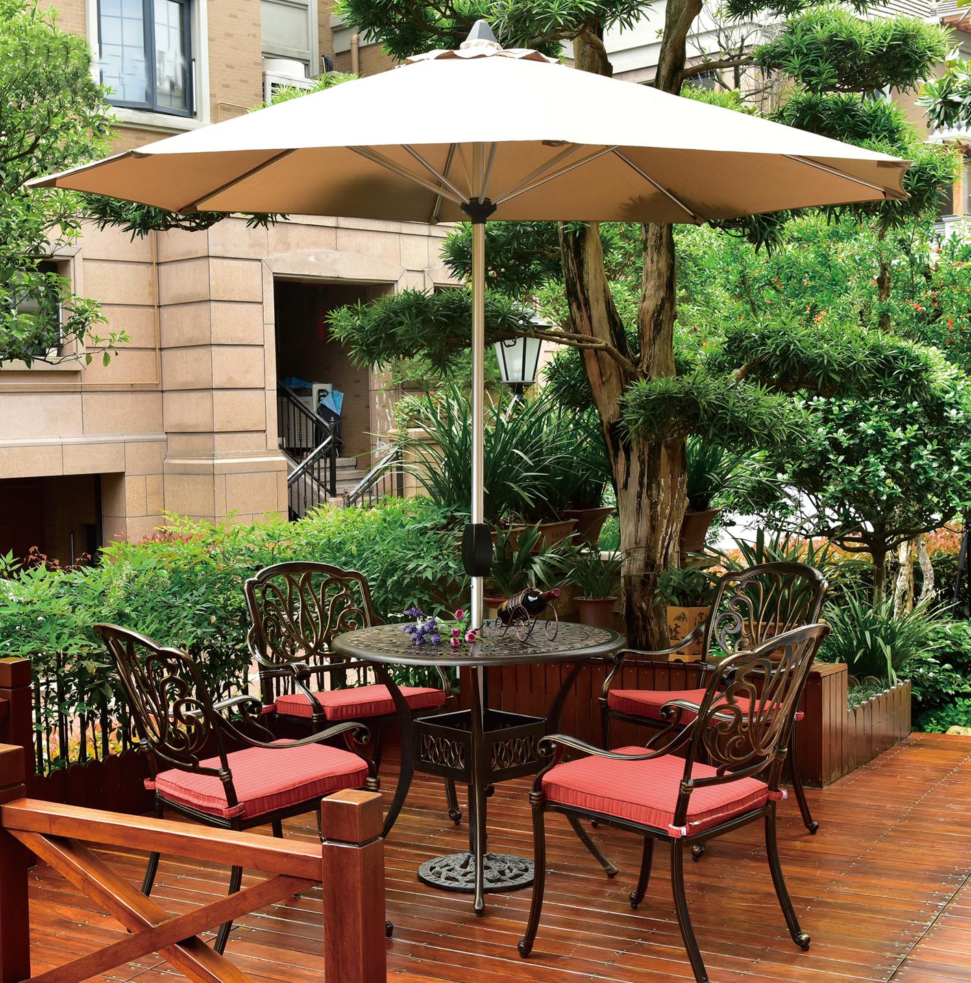 jdm 5pc bronze modern aluminum outdoor furniture front porch furniture jdm supply garden. Black Bedroom Furniture Sets. Home Design Ideas
