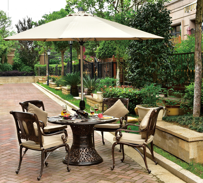 High Strength Waterproof Cast Aluminum Outdoor Garden And