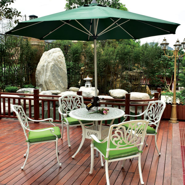 aluminium outdoor table and chairs