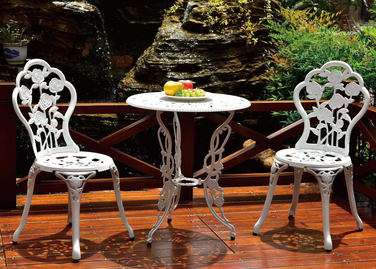 Jdm 4pc Waterproof White Bronze Cast Aluminum Rose Design